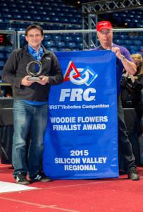 Travis Wins the Woodie Flowers Finalist Award